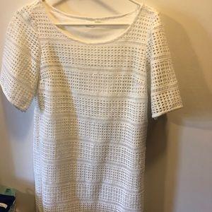 White summer dress from Gap.